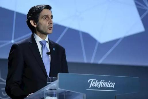 El presidente ejecutivo de Telefónica, José María Álvarez-Pallete, durante al junta general de accionistas de 2020.