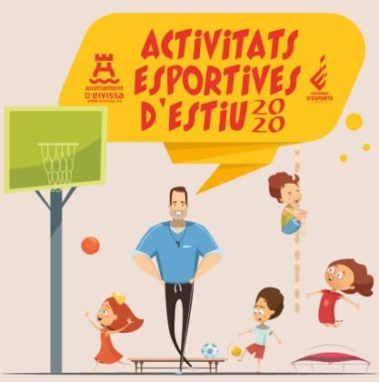 Portada del folleto de actividades deportivas de verano de Vila.