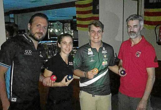 José Luis González 'Jepy', Amalia Matas, Jonás Souto y Ángel Borrueco, los cuatro primeros.