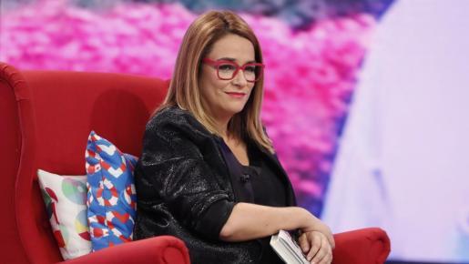 Toñi Moreno, durante un programa de televisión.