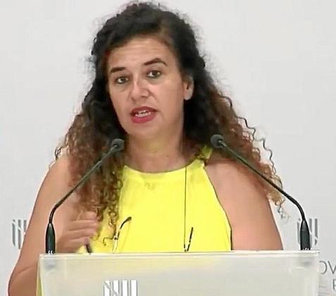Pilar Costa, ayer, en su comparecencia ante los medios.