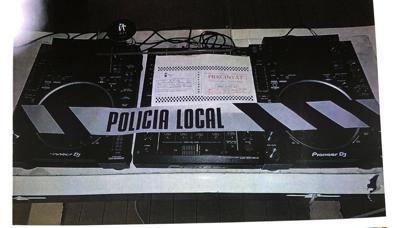 Precinto de la Policía Local de Ibiza.