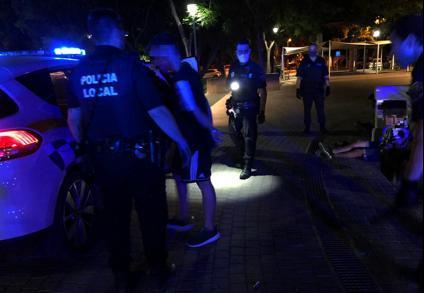 Cuatro detenidos por dejar incosciente a un joven en Ibiza