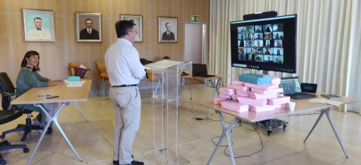 Agustinet, durante la videoconferencia.