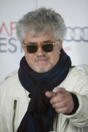 """El director español de cine Pedro Almodóvar en la presentación de la película """"La Ley del Deseo""""."""