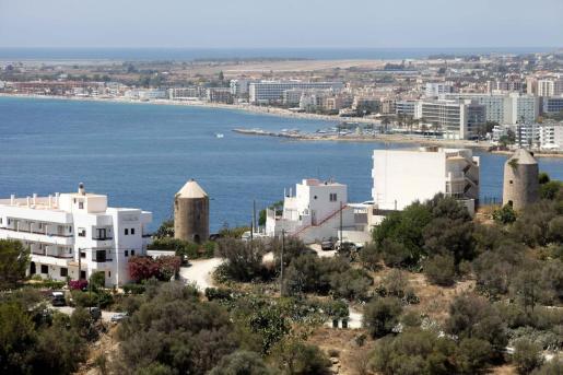 Vistas de la cudad de Ibiza.
