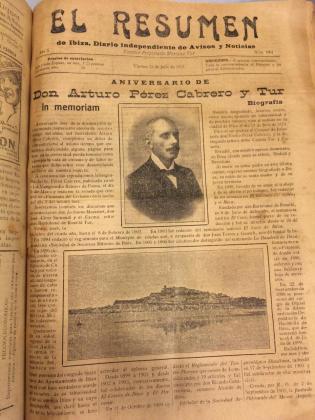 Ejemplar del diario El Resumen del 16 de julio de 1916.