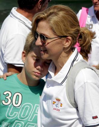 La Infanta Cristina disfruta de las vacaciones con sus hijos en Palma.