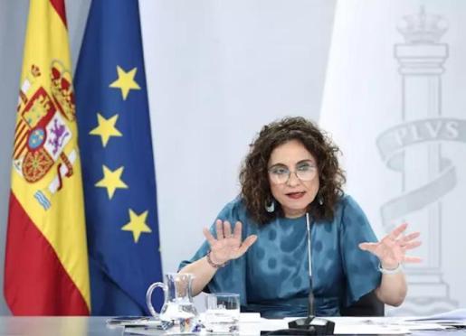La portavoz del Gobierno y ministra de Hacienda, María Jesús Montero, en una rueda de prensa posterior al Consejo de Ministros. - EUROPA PRESS/E. Parra. POOL - Europa Press