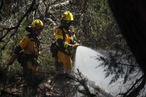 Imagen de archivo del incendio resgistrado en Cala Bassa esta semana.