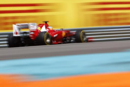 El piloto de Ferrari Fernando Alonso, durante el Gran Premio de Hungría.