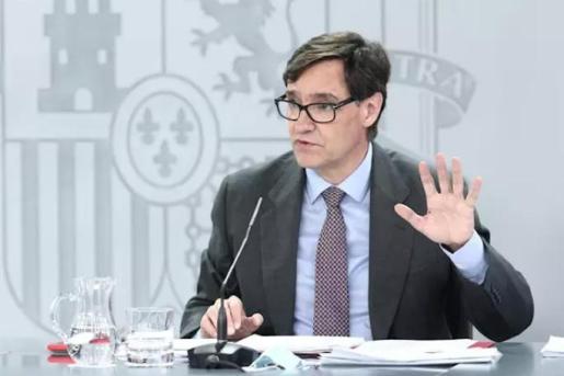 El ministro de Sanidad, Salvador Illa, comparece en rueda de prensa posterior al Consejo de Ministros celebrado en Moncloa, Madrid (España), a 14 de julio de 2020. - EUROPA PRESS/E. Parra. POOL - Europa Press