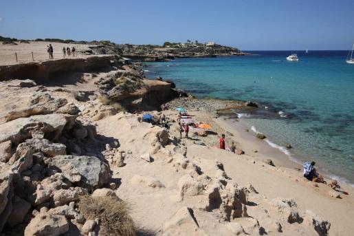 Imagen del aforo de playas el domingo pasado.