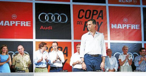 Don Felipe de Borbón entregó los trofeos acompañado de María Salom, Adolfo Orozco, Mateo Isern, José Ramón Bauzá, Javier Sanz, José Antonio Continente, Mar Raventós y Joan Ramon Fuertes.