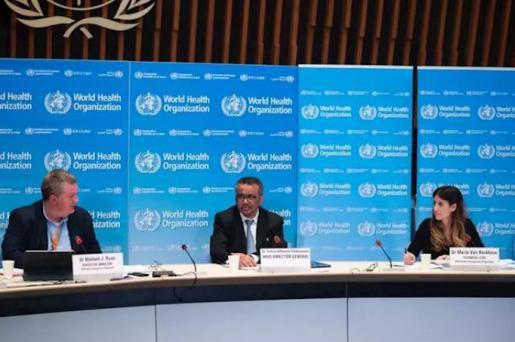 El director general de la Organización Mundial de la Salud, Tedros Adhanom Ghebreyesus, comparece en rueda de prensa para informar sobre la evolución de la pandemia de coronavirus. 18 de marzo de 2020. - OMS - Archivo