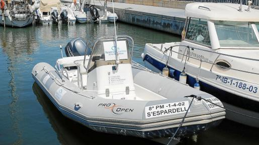 La nueva barca de los vigilantes de la reserva marina de Tagomago.