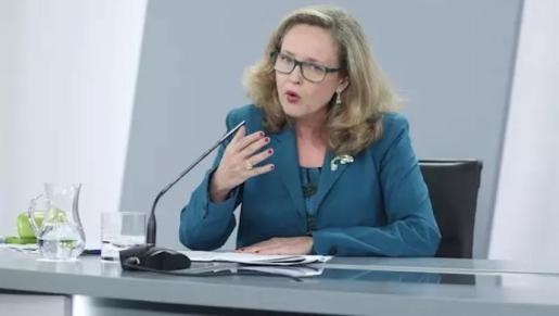 La vicepresidenta tercera del Gobierno y ministra de Asuntos Económicos y Transformación Digital. Nadia Calviño.
