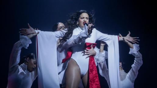 Rosalía, en concierto.