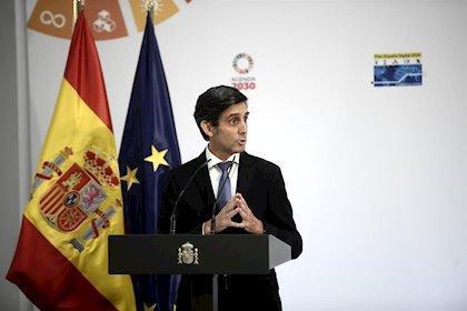 El presidente ejecutivo de Telefónica, José María Álvarez-Pallete, durante la presentación de la agenda 'España Digital 2025' en Moncloa, Madrid (España), a 23 de julio de 2020.