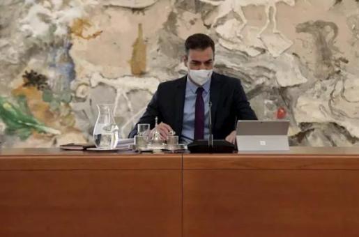 El presidente del Gobierno, Pedro Sánchez, preside la reunión del Consejo de Ministros en Moncloa, en Madrid (España), a 4 de agosto de 2020 - Moncloa