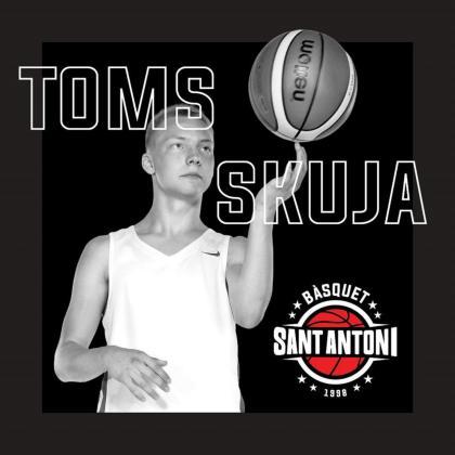 Toms Skuja llega del Club Baloncesto Fuenlabrada y jugará en EBA con el Bàsquet Sant Antoni.