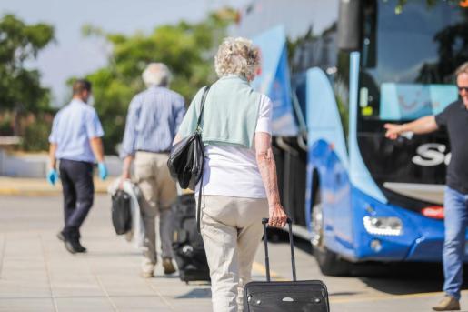 Turistas alemanes, en Ibiza.