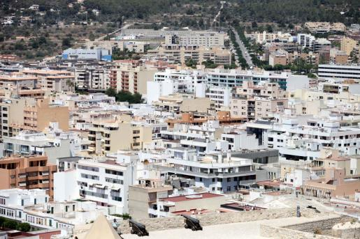 Vista aérea de la ciudad de Ibiza.