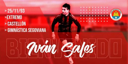 Iván Sales, dinamita para el ataque del CD Ibiza.