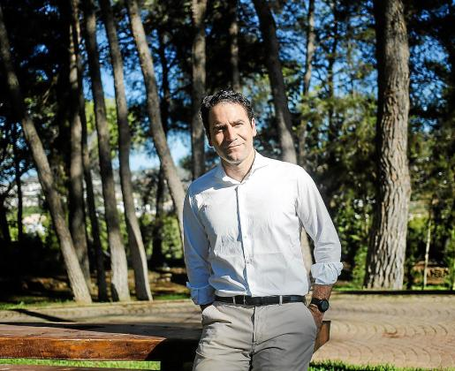 Teodoro García Egea, Secretario General del Partido Popular, en el agrotulismo Sa Talaia.