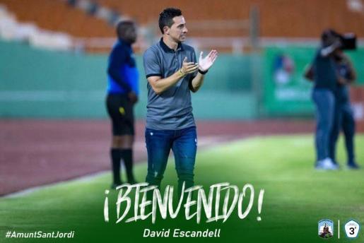 David Escandell, nuevo entrenador del Sant Jordi.