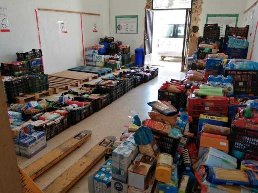 Alimentos donados durante las Festes de la Terra.