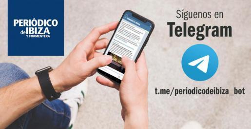 Pasos a seguir para darte de alta en las alertas de Periódico de Ibiza y Formentera en Telegram.