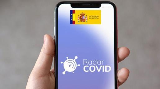La aplicación 'Radar COVOD' descargada en un móvil.