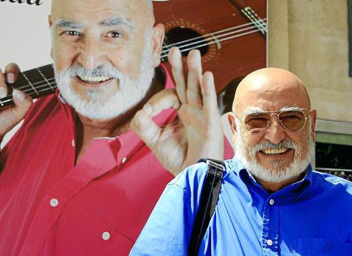 El padre de la rumba catalana, Peret, ayer en Palma.