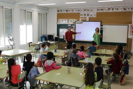 Imagen de archivo de un aula del CEIP Llevant de Inca.