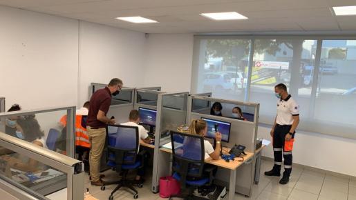 Imagen de la nueva central COVID-19 en Palma.