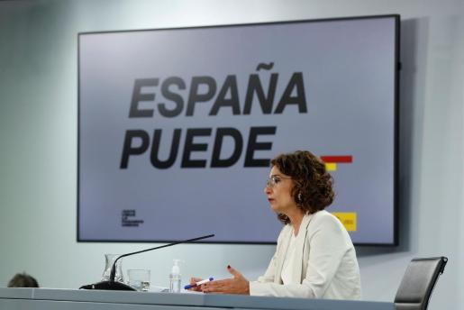 La ministra de Hacienda y portavoz del Gobierno, María Jesús Montero, ofrece una rueda de prensa posterior al Consejo de Ministros.