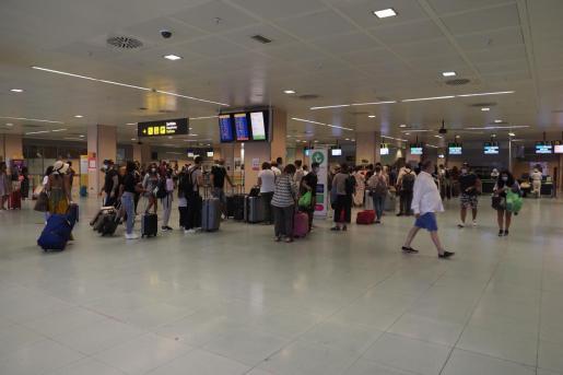 Así se veía el aeropuerto de Ibiza el pasado fin de semana.