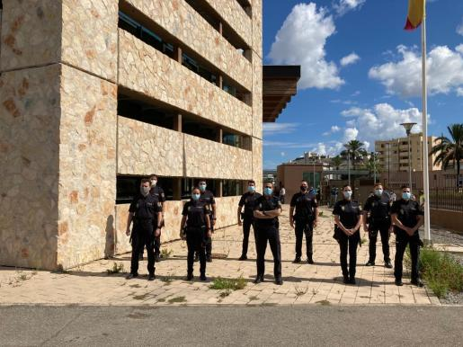 Agentes en prácticas de la Policía Nacional de Ibiza.