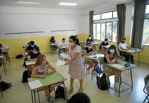 Los exámenes pasados exámenes de recuperación, la primera prueba del nueva escenario escolar.