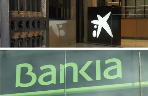 CaixaBank y Bankia - EUROPA PRESS - Archivo