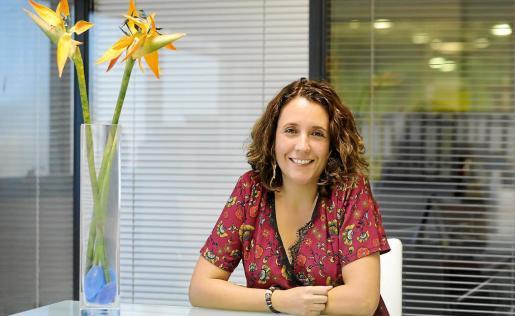 Ana Pallás en las instalaciones del Periódico de Ibiza y Formentera.