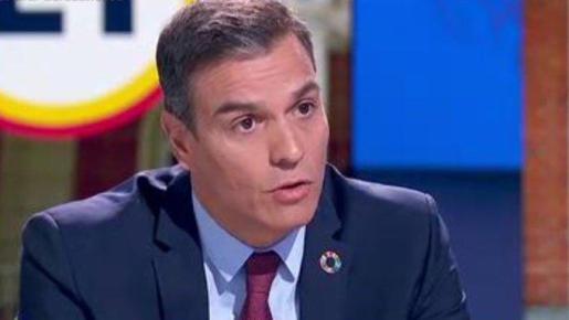 Pedro Sánchez, durante la entrevista de RTVE.