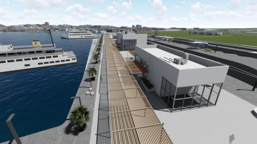 Simulación de la futura Estación Marítima para el tráfico de Ibiza a Formentera.