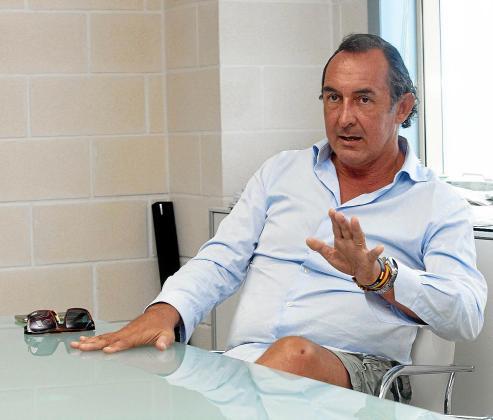 José Luis Sánchez-Saliquet, ayer, en la entrevista con Periódico de Ibiza y Formentera.