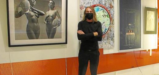 Dieter Sroka, director y editor de la revista IbizaArtGuide y promotor de la exposición en el Centro Cultural de jesús.