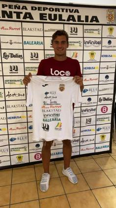 Fran Martínez con la camiseta de la Peña.