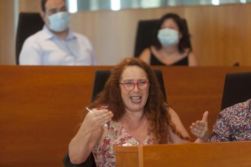 Viviana de Sans, portavoz de Podemos en el Consell.