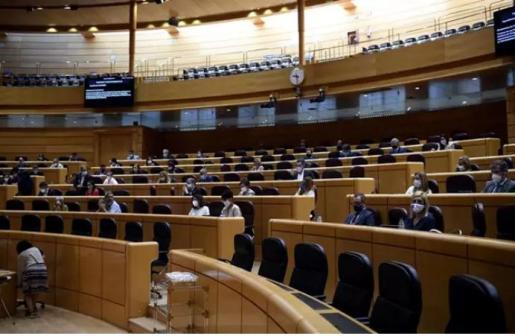 Hemiciclo del Senado durante un pleno en Madrid, a 9 de septiembre.