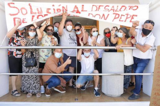 Imagen de una de las protestas de los vecinos del Don Pepe.